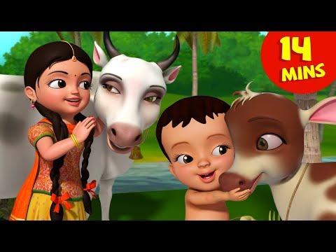 Meri Gaiya Aati Hai | Hindi Rhymes Collection For Children | Infobells
