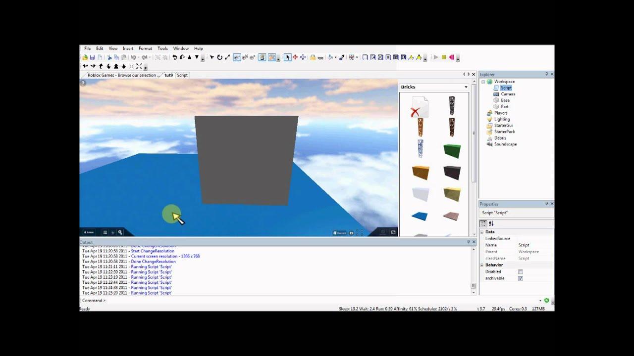 ROBLOX Lua Scripting Tutorials: 9 - Creating objects ...