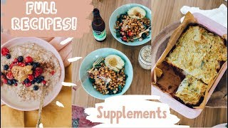 WHAT I EAT IN A DAY // whole food plant based // + SUPPLEMENTS I TAKE!