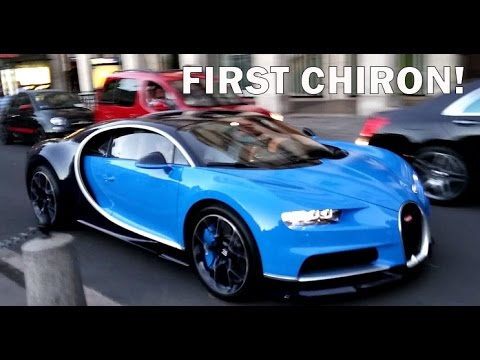 the first bugatti chiron in paris youtube. Black Bedroom Furniture Sets. Home Design Ideas
