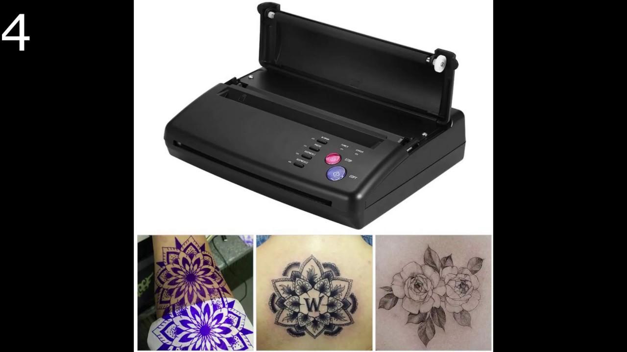 EU Professional Thermodrucker A5 A4 Tattoo Transfer Kopierer Thermal Schablonenpapier Drucker Maschine