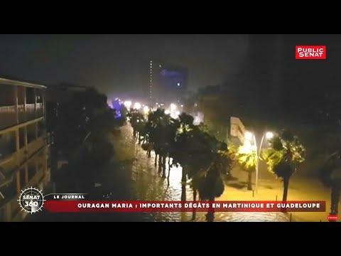 Ouragan Maria: importants dégâts en Martinique et en Guadeloupe
