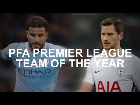 PFA Premier League Team Of The Year - Man City Lead The Way With 5 Players