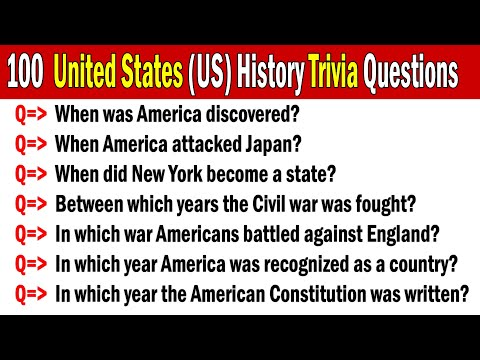 100 US History Trivia Questions & Answers | America Trivia | USA Trivia | United States History Quiz