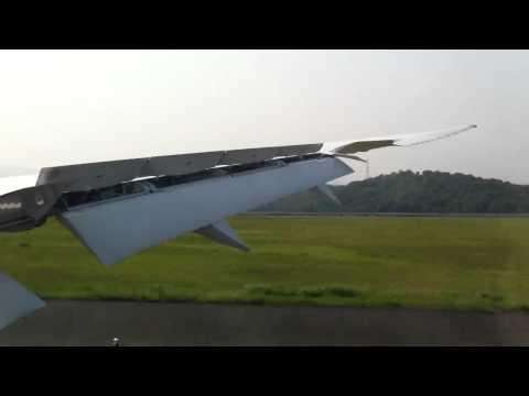ANA B787-8 landing at Okayama Airport JA807A