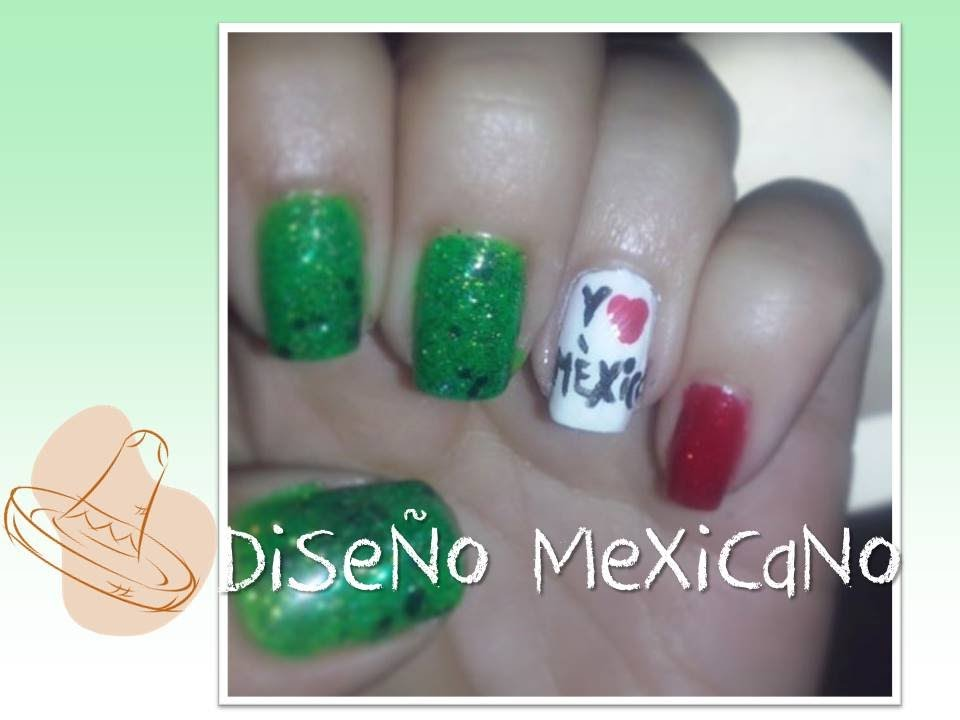 Tutorial De Uñas Diseño Mexicano - YouTube