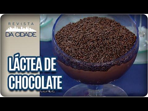 Receita de Sobremesa Láctea de Chocolate - Revista da Cidade (17/01/17)
