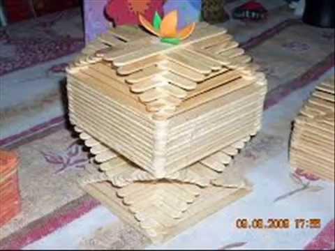 Manualidades con palitos de helado 7 youtube - Manualidades con cajas de madera ...