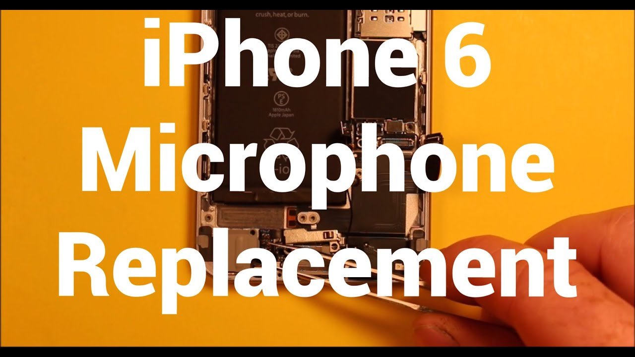 iPhone 6 Microphone Replacement How To Change - YouTube 1da22cea9d690