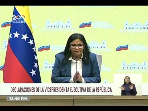 Vicepresidenta Delcy Rodríguez, anuncios sobre nuevo cono (Bolívar Digital), 27 septiembre 2021