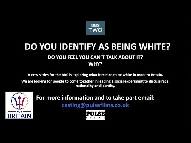 Do you identify as being white? // Anne Marie Waters // For Britain