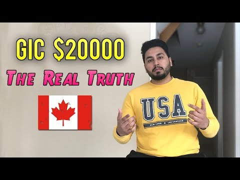 Revised GIC $20000 | International Students in Canada | 2019