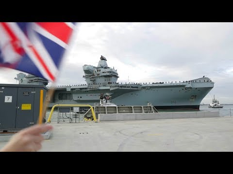 HMS Queen Elizabeth returns to Portsmouth Dec 10th 2018