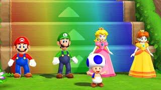 Mario Party 9 Step It Up - Mario vs Luigi vs Peach vs Daisy (Master CPU)