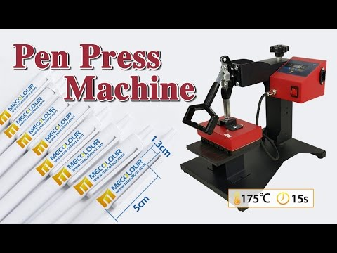 how to transfer pen with pen heat press machine
