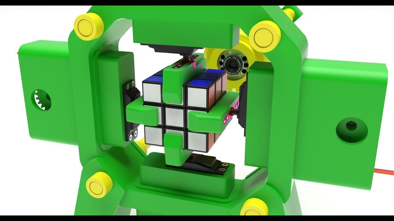 267b3d2729a Fully 3D-Printed Rubik s Cube Solving Robot - YouTube