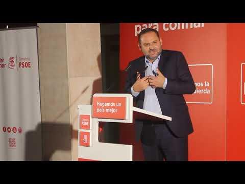 Intervención de José Luis Ábalos en el acto del PSOE Cantabria