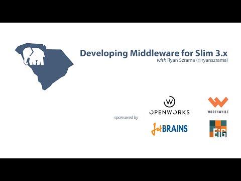 Middleware for Slim 3x by Ryan Szrama