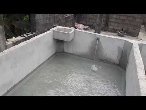 How A Concrete Fish Pond ( Aquarium) Should Look Like;