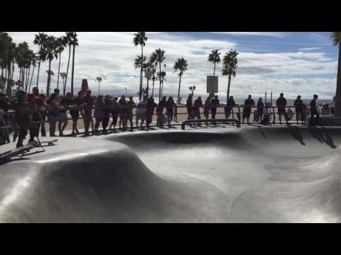 Venice beach in california, skate park 2016
