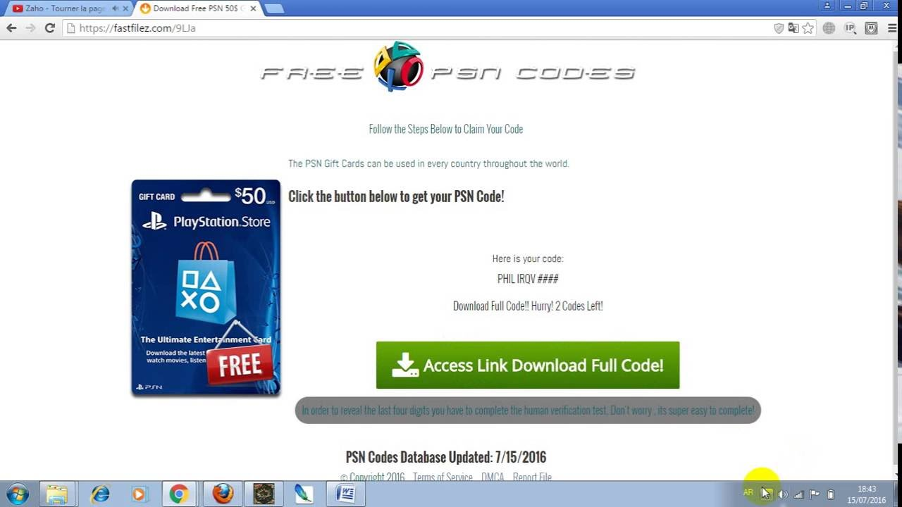 how to get Free PSN Gift Card (NICHE - YouTube