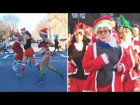 The Woody Show - Santas Around the World Celebrate Giving to Charity
