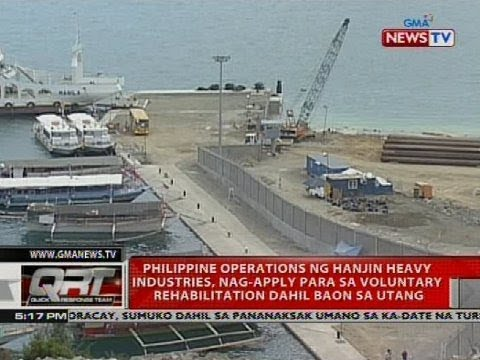 Philippine operations ng Hanjin heavy industries, nag-apply