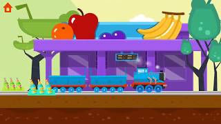 Easy and Fun Driving Train For Kids, learning Shape and Color | Driver - Driving games