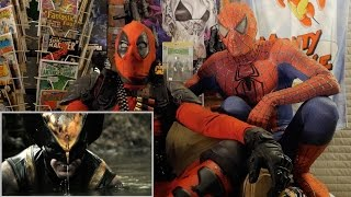 WOLVERINE vs PREDATOR - REACTION SPANDEX WITH SPIDER-MAN AND DEADPOOL