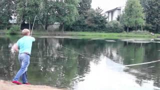 Открытый урок нахлыста на Петровском пруду