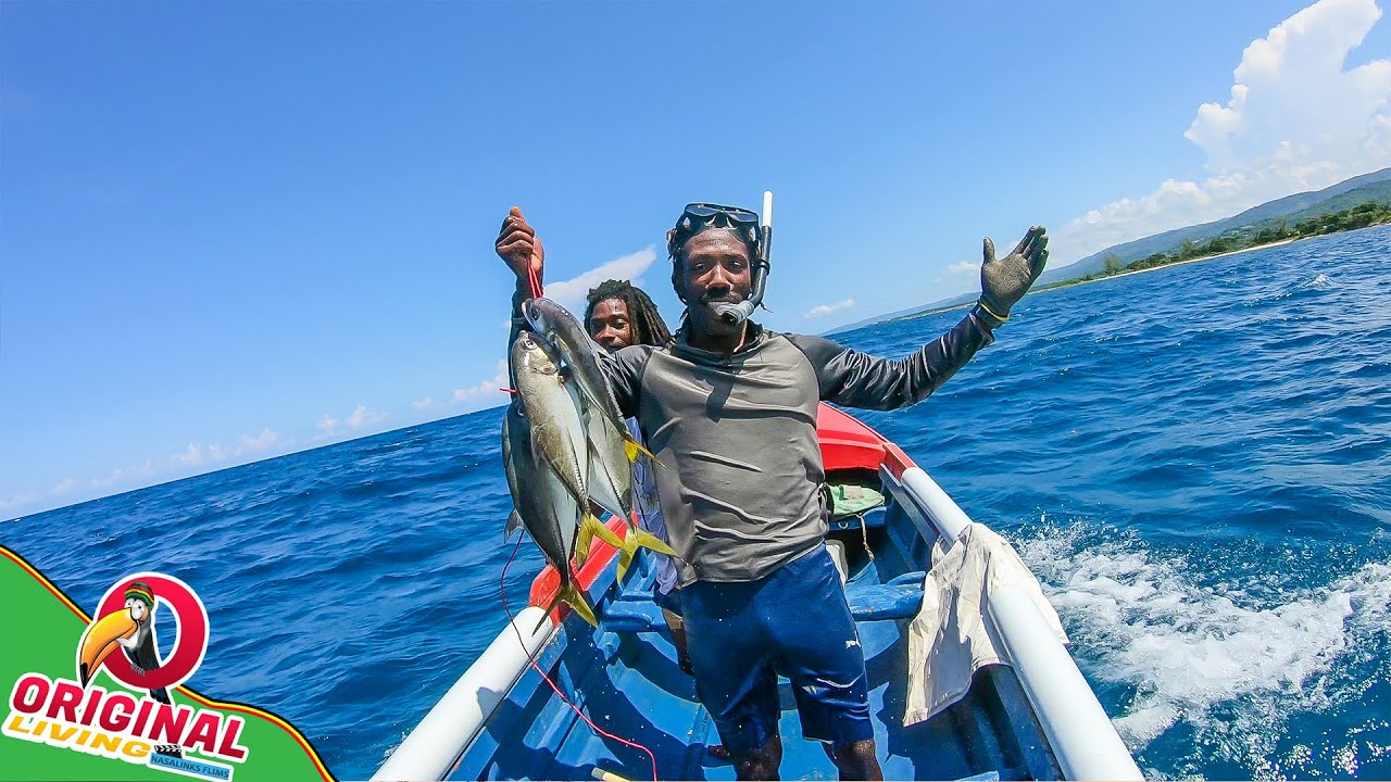 Net Fishing With Deep Sea Divers