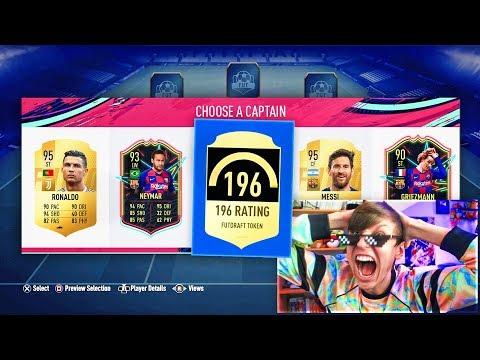 196 FUT DRAFT IN A PACK!! (FIFA 19)