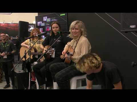 """The Regrettes Performing """"California Friends"""" At The Shure Booth NAMM 2020 