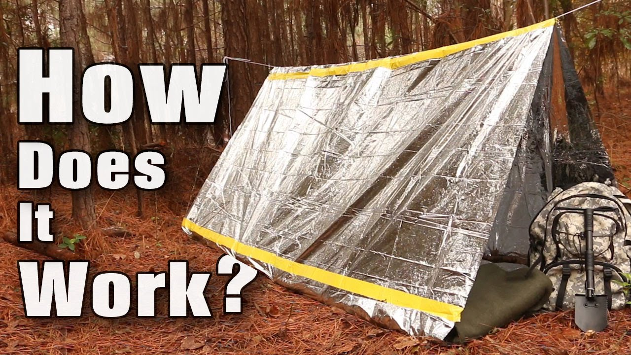 Trailblazer C&ing Emergency Survival Tent - $6.99 & Trailblazer Camping Emergency Survival Tent - $6.99 - YouTube
