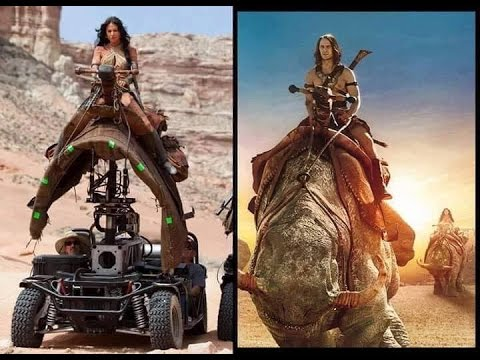 Movie Images Before and After Visual Effects - #Movies VFX #Hollywood |  @WorldTechInspiration
