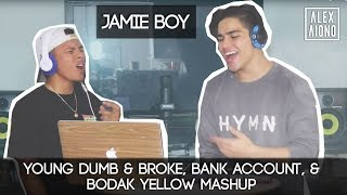 Download Young Dumb & Broke, Bank Account, & Bodak Yellow Mashup | Alex Aiono MASHUP FT JamieBoy MP3 song and Music Video