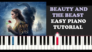 Ariana Grande & John Legend - Beauty & The Beast (EASY Piano Instrumental)