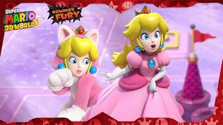 Super Mario 3D World for Switch ᴴᴰ   World 5 (All Green Stars & Stamps) Solo Peach