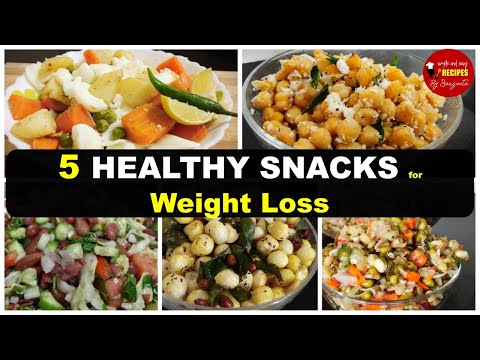 5 Healthy Snacks Recipe For Weight Loss | Healthy Evening Snacks | Weight Loss Salad Recipes