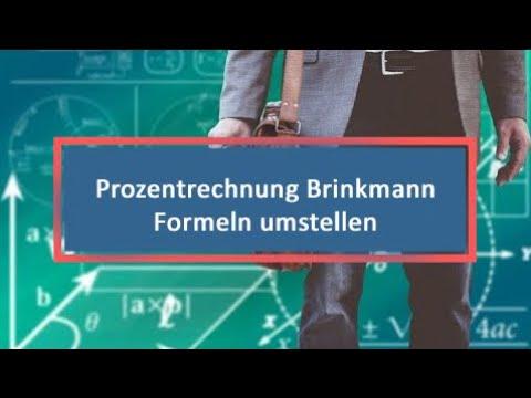 Prozentrechnung Brinkmann Formeln Umstellen Youtube