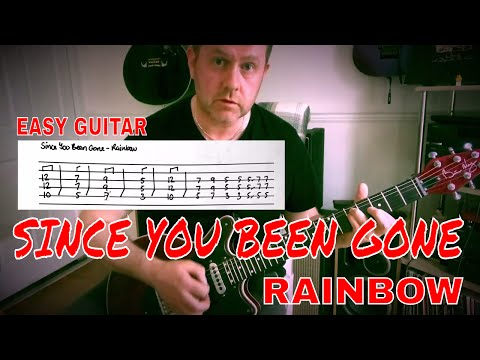 Easy Guitar - Since You've Been Gone - Rainbow Lesson