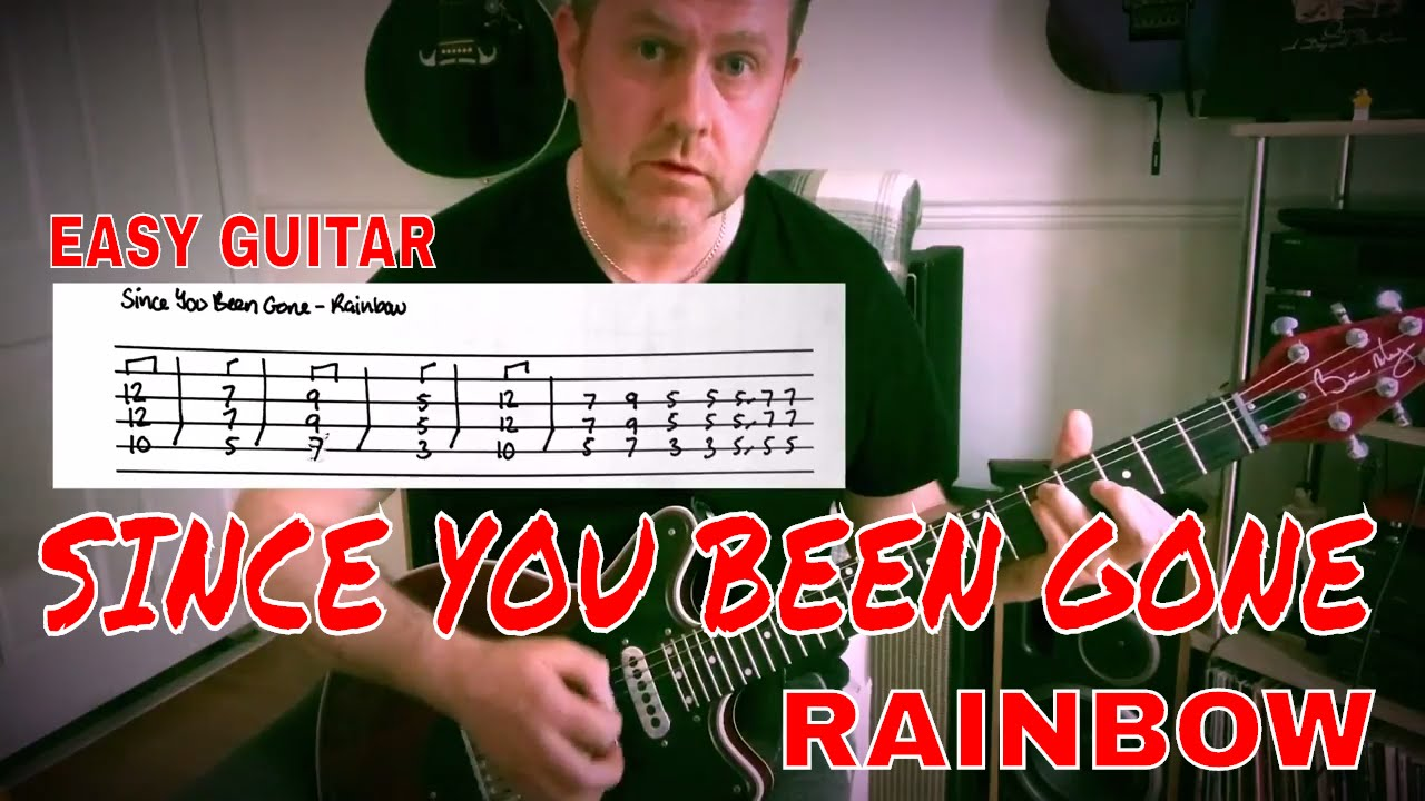 Easy Guitar Since Youve Been Gone Rainbow Lesson Youtube