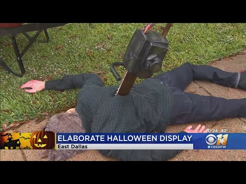 Dallas-Man-Proud-Of-His-Graphic-Halloween-Display