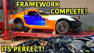 Rebuilding A Wrecked 2014 Dodge Viper TA TIME ATTACK PART 13