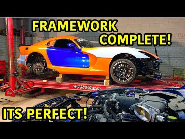 Rebuilding A Wrecked 2014 Dodge Viper TA TIME ATTACK PART 13