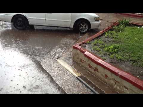 Afternoon rain storm, 19 Feb 2013, Lusaka, Zambia (HD)