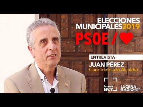 VÍDEO: ELECCIONES MUNICIPALES LUCENA 2019: Entrevista a JUAN PÉREZ (PSOE)