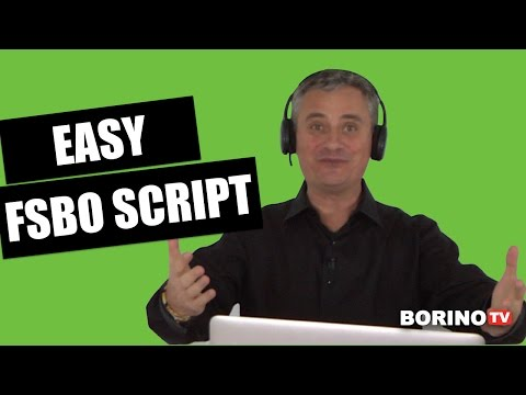 Easy FSBO Script That Gets Appointments - Borino Real Estate Coaching