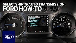 SelectShift® Automatic Transmission – Truck | Ford How-To | Ford
