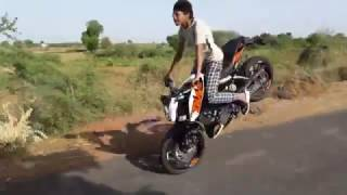 Ktm Duke Bike  stunts In India